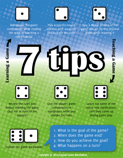 7 tips for learning and teaching a game