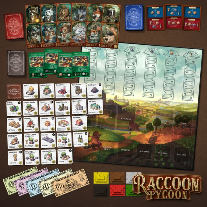 Raccoon Tycoon components