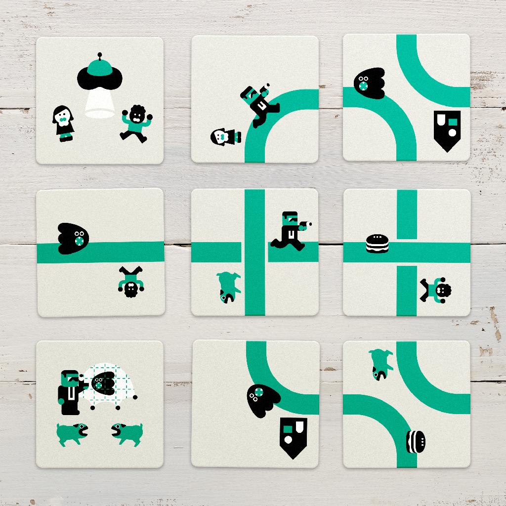 Nine Tiles Panic cards