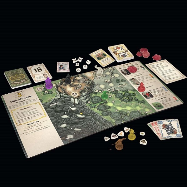 The Princess Bride Adventure Book Game Components