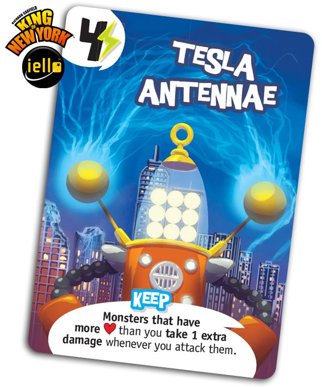 King of New York: Tesla Antennae Card