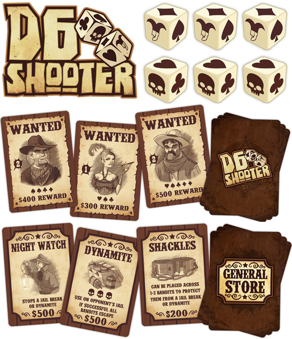 D6 Shooter Components
