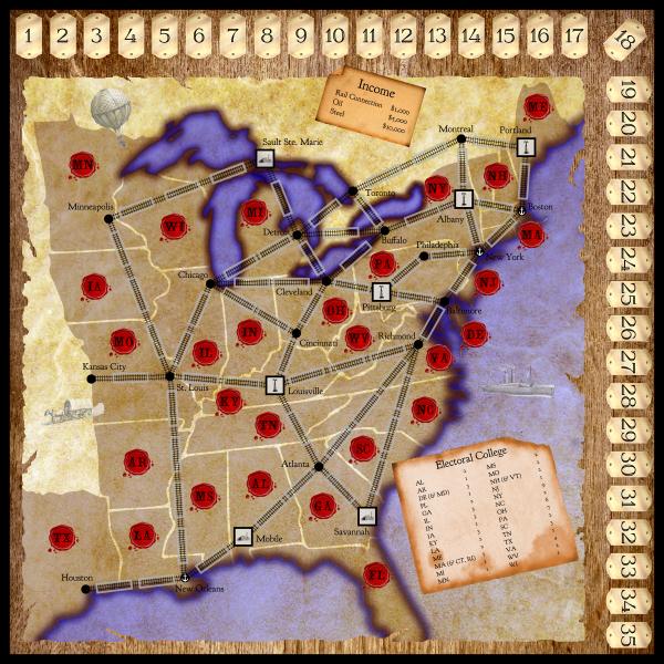 Gilded Devils map