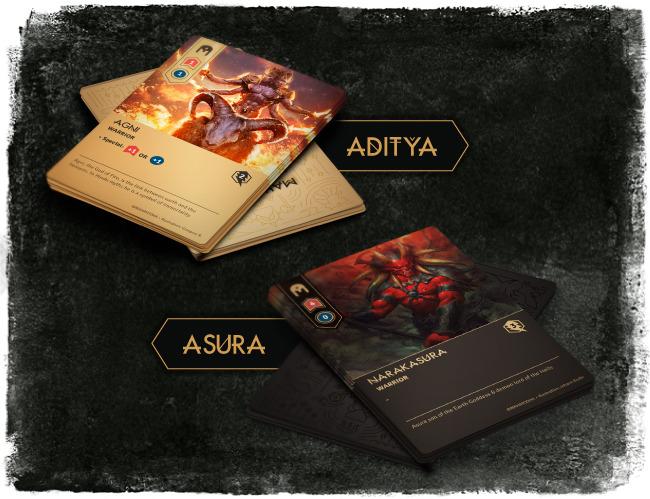 Maha Yodha cards (image courtesy Leprechaun Games)