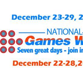 National Games Week 2012 - December 23-29. Gatherings. Games. Good Times.