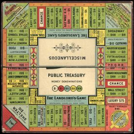 The Landlord's Game - 1906 game board
